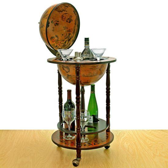 Antique Globe Bar Cart