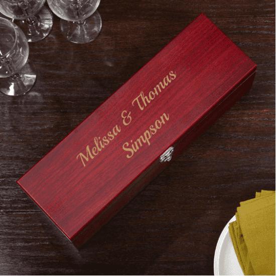 Customizable Wine Bottle Gift Box Set of Good Wedding Gifts