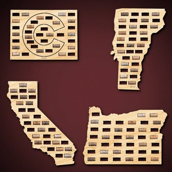Wine Cork Map of Home State