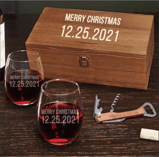 Custom Wine Gift Set with Corkscrew