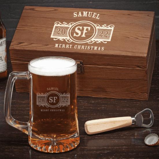 Personalized Beer Mug Christmas Gift Sets
