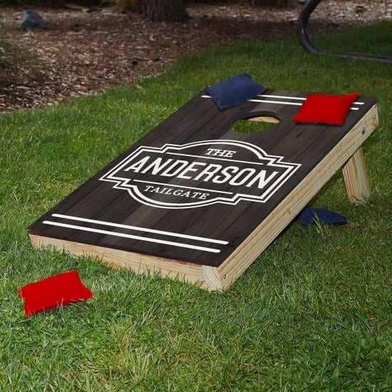 Personalized Bean Bag Toss Board Set of Gifts for Parents