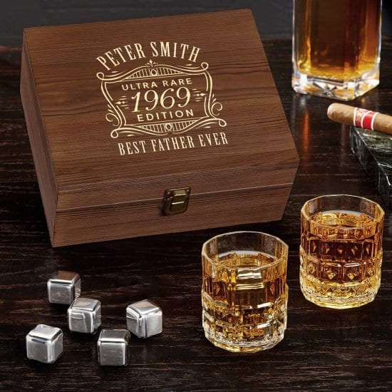 Whiskey Stone Set of First Year Anniversary Gifts for Him