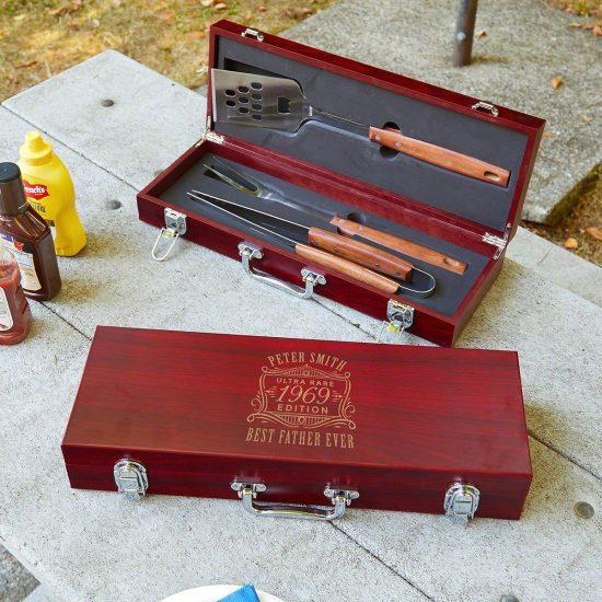 Engraved Grilling Tools Set