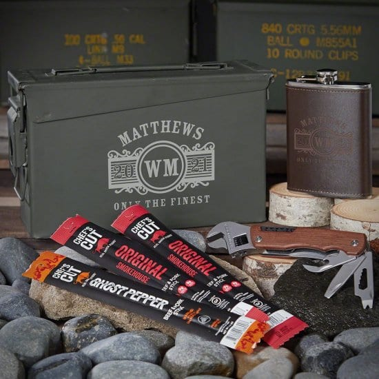 Flask and Multi Tool Ammo Can Gift Set