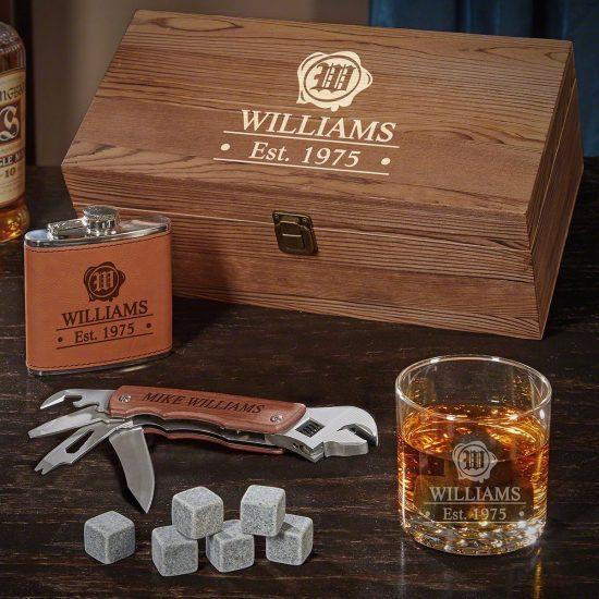 Custom Whiskey Birthday Gift Boxes
