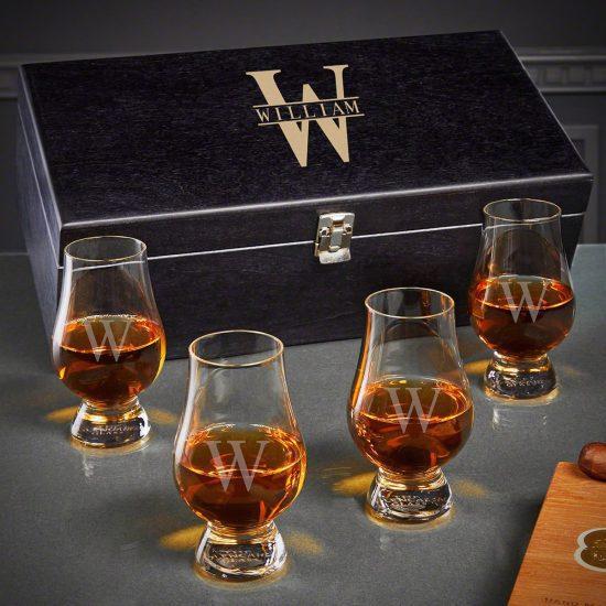 Custom Glencairn Glass Set of Golden Anniversary Gifts