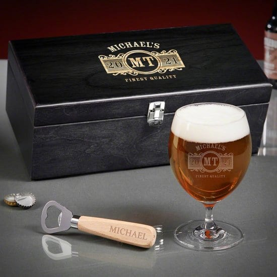 Personalized Beer Tasting Box Set