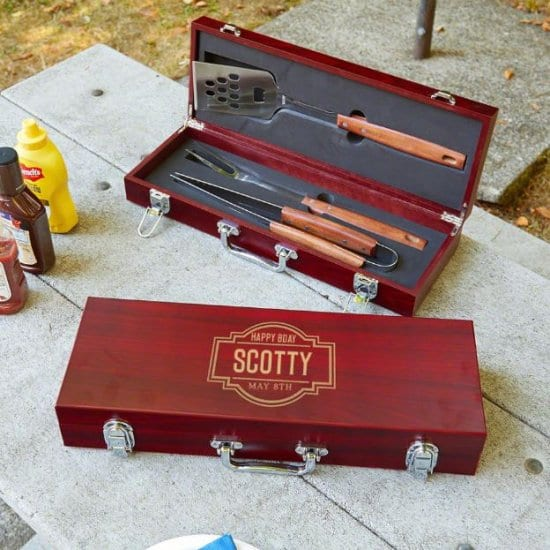 Custom Grilling Tools Set for Birthday