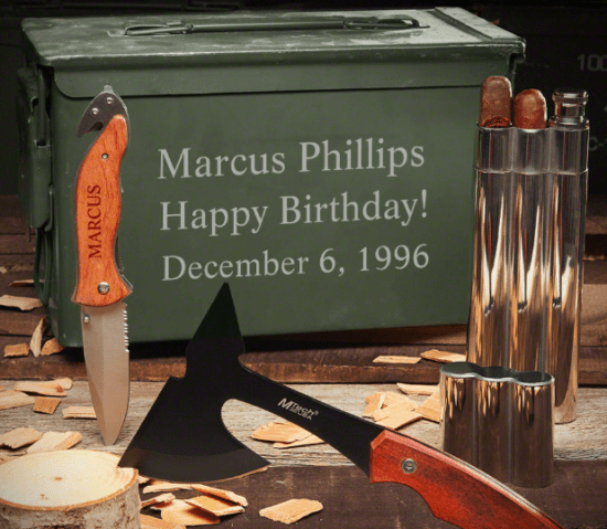 Engraved Ammo Can Set with Tools