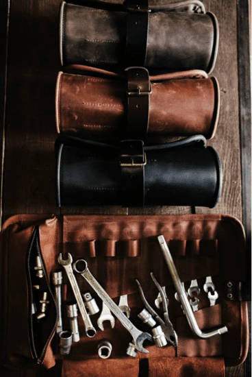 Leather Garage Tool Roll