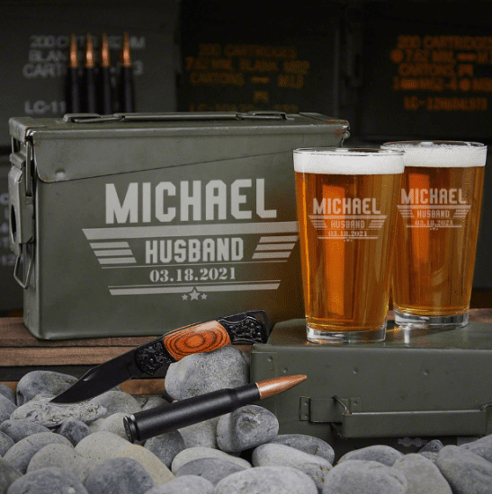 Custom Beer Ammo Can Husband Anniversary Gift