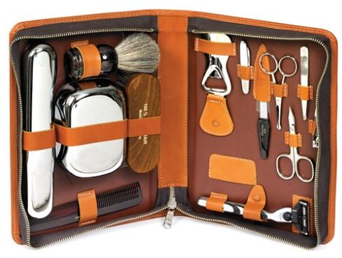 Leather Travel Accessories Grooming Kit