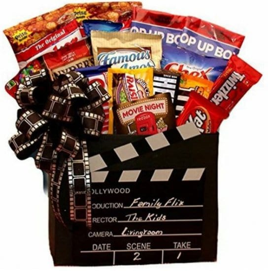 Movie Night Snack Basket of Gifts for Parents