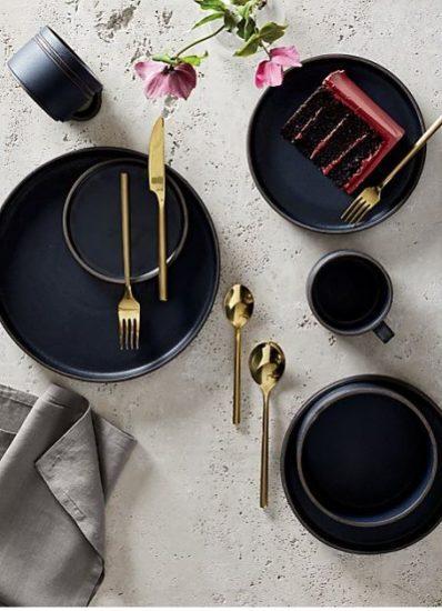 Golden Flatware Set
