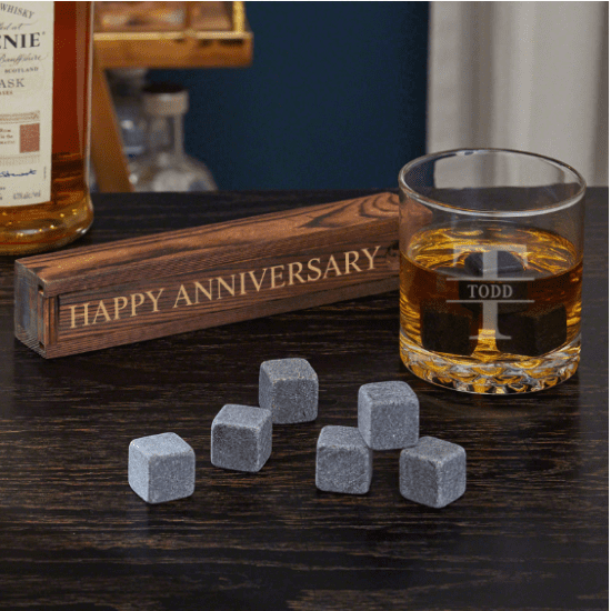 Personalized Whiskey First Wedding Anniversary Gift for Husband