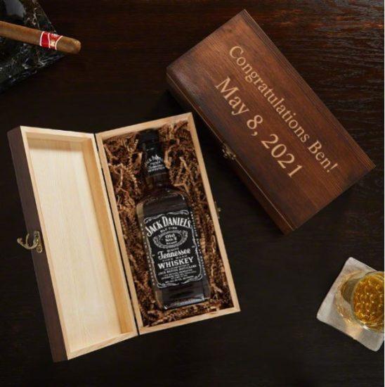 Engraved Liquor Bottle Box