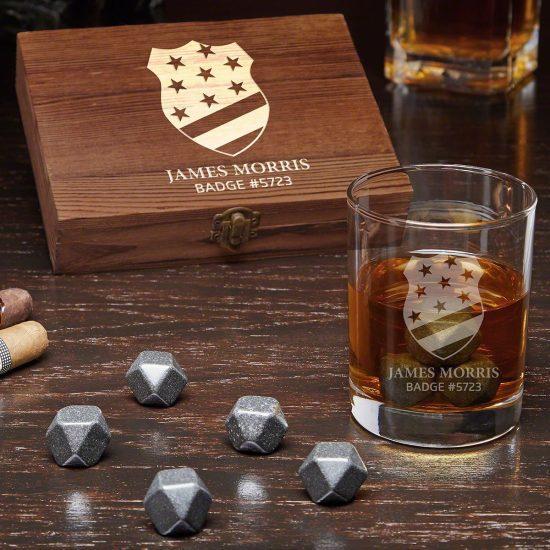 Custom Onyx Whiskey Stone Set