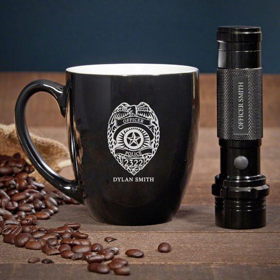 Coffee Mug and Flashlight