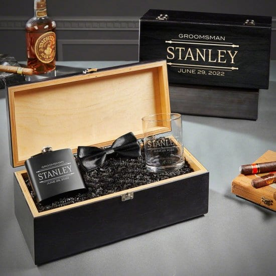 Personalized Best Man Gifts Box Set