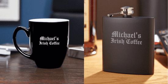 Customizable Coffee and Flask Gift Set