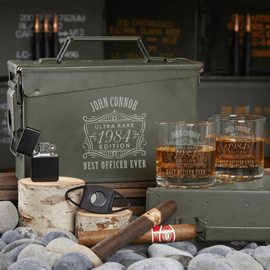 Personalized Gifts for Police Office Whiskey Ammo Can