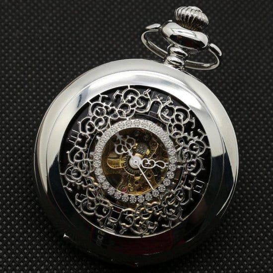 Pocket Watch First Anniversary Gift for Husband