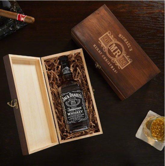 Etched Liquor Bottle Box