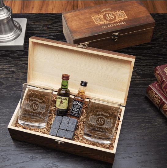 Personalized Whiskey Glass Box Set