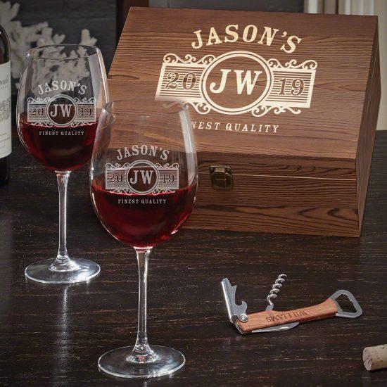 Customized Wine Glasses Box Set