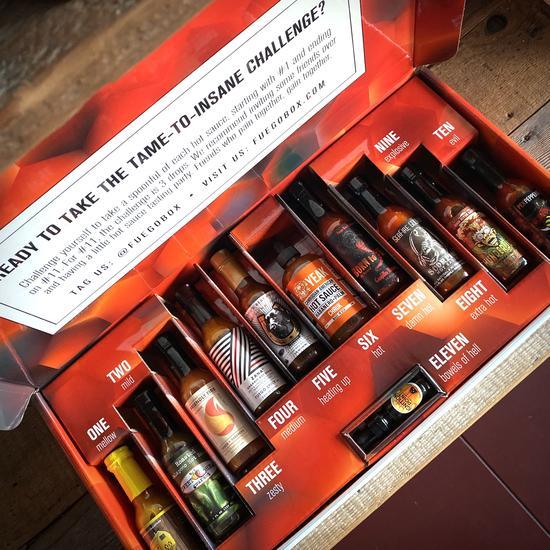Box Set of 11 Hot Sauces