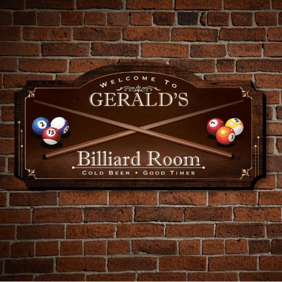 Custom Billiard Sign
