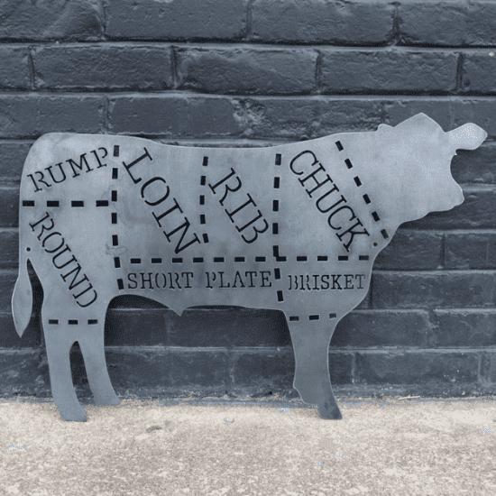 Metal Cow - Custom Made Signs