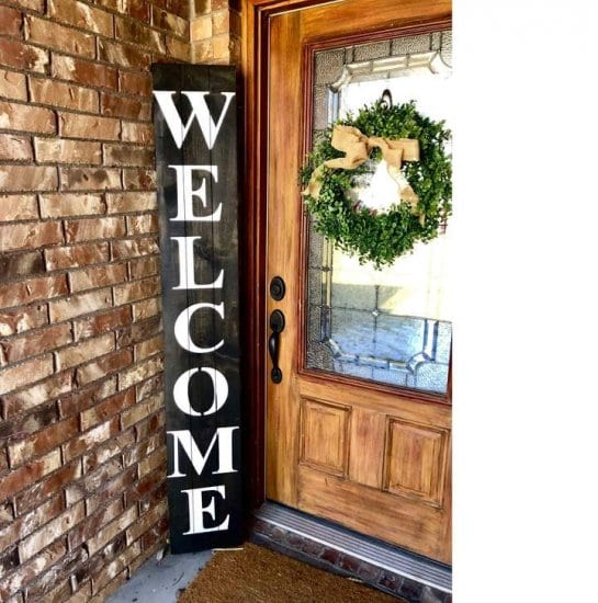 Welcome Entry Way Home Decor Sign