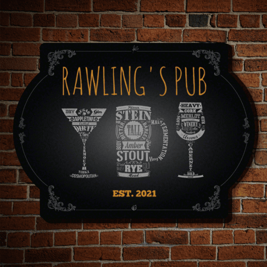 Home Decor Signs for Personal Pub