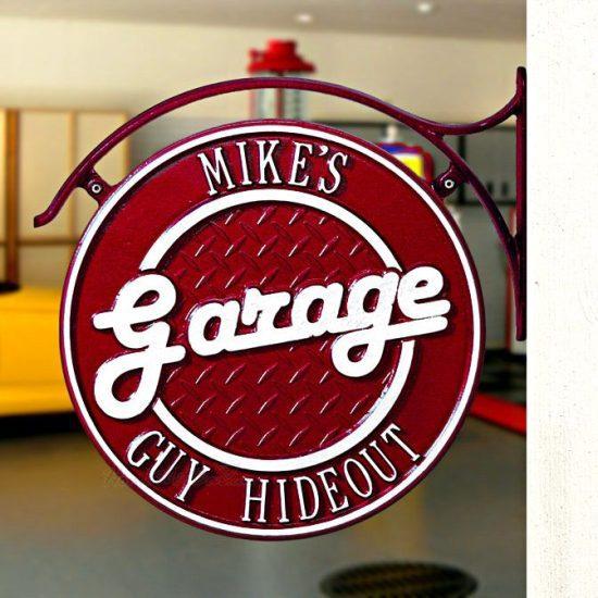 Engraved Metal Garage Plaque