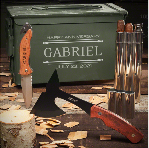 Custom Tool Ammo Can Set 1 Year Anniversary Gifts for Him
