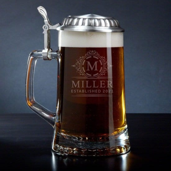 Wedding Anniversary Gifts for Husband is a Beer Stein