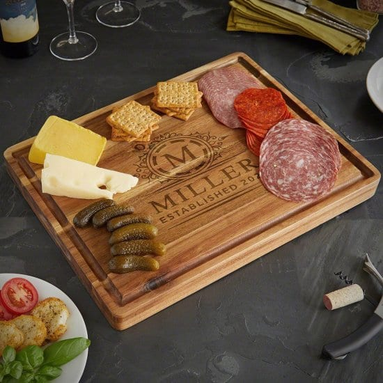 Custom Cutting Board Anniversary Gift for Husband