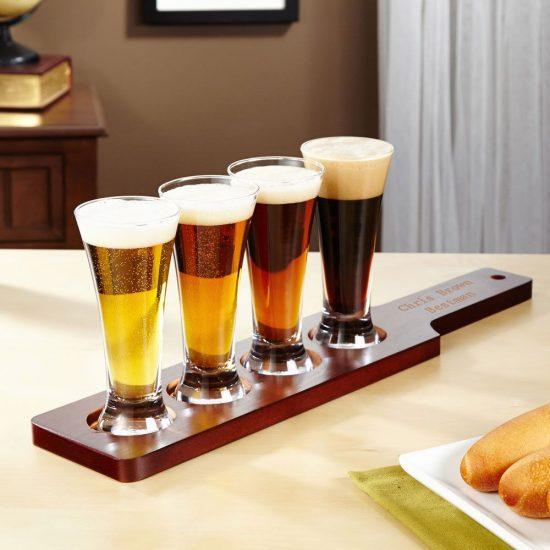 Tall Glass Beer Flight Set