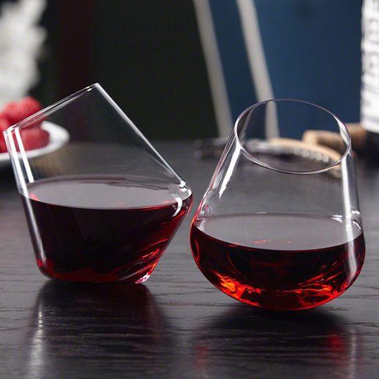 Rolling Wine Glasses