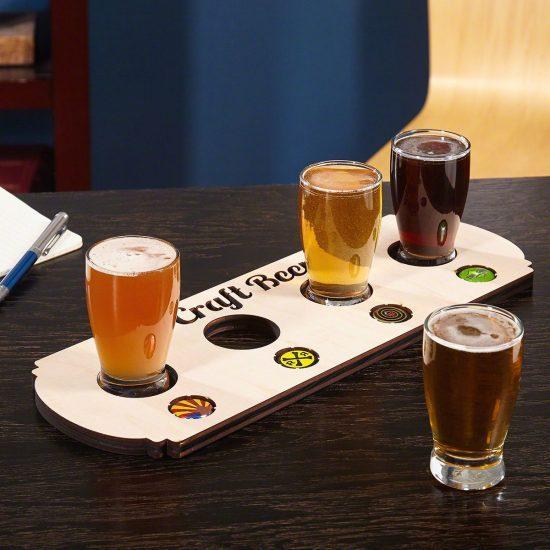 Bottle Cap Holder Flight of Beer Set