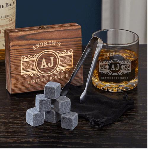 Custom Whiskey Stone Birthday Gifts for Guys
