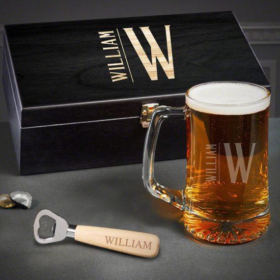 Beer Mug Box Set of Wedding Gifts for Husband