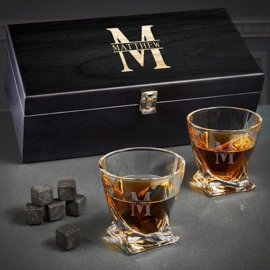 Etched Whiskey Glasses Set of Wedding Gifts