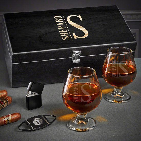 Engraved Cognac 20 Year Wedding Anniversary Gift