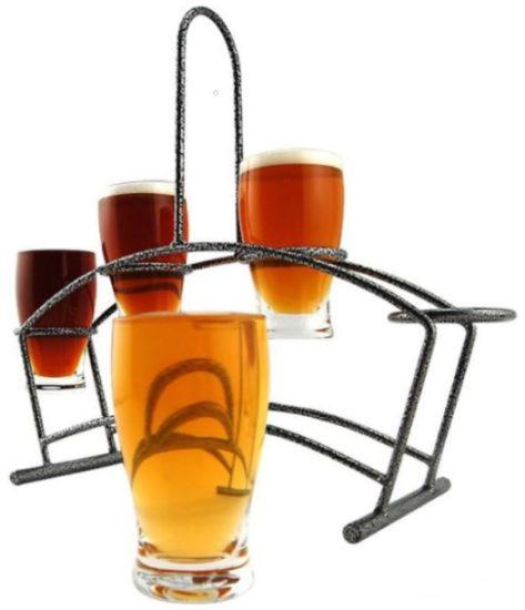 Metal Beer Flight Glasses Carrier