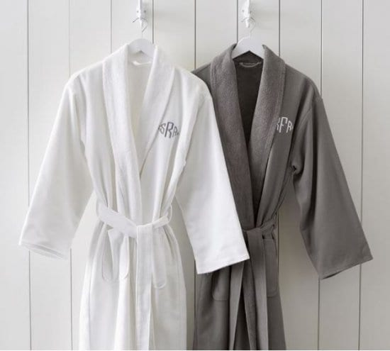 Monogrammed Robes Set for Bride and Groom