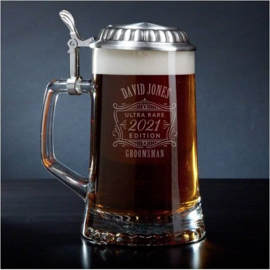 Personalized Beer Stein Good Groomsmen Gift Ideas