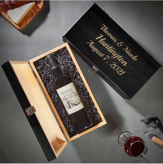Etched Wine Gift Box